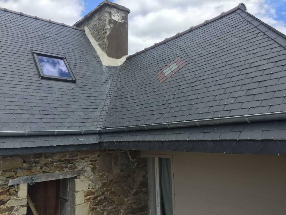 Rénovation toiture ardoise (Pommerit-Jaudy - 22450) - Couverture Zinguerie Guingamp